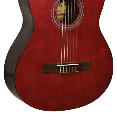 Indiana IC-25 Classical Cutaway Full Size Nylon String 6-Acoustic Guitar w/Adjustable Truss Rod for sale