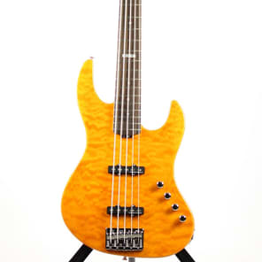 ESP E-II J-5 QM Quilted Maple 5-String Bass Amber