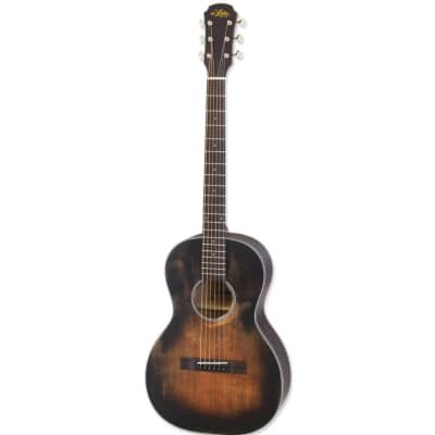 Aria 131DP Delta Player Parlour Acoustic Guitar, Muddy Brown for sale