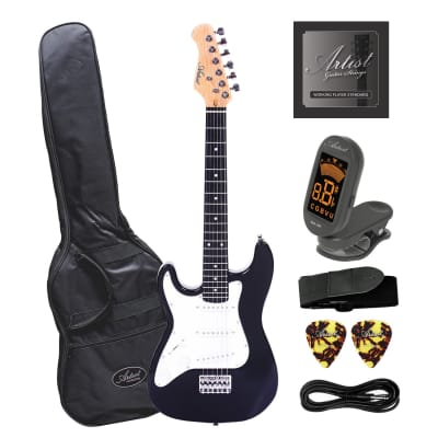 Artist MiniS Plus Left Handed 3/4 Sized Electric Guitar + Accessories for sale