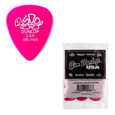 72-Pack Dunlop 41R.96 Delrin 500 Guitar Picks Medium-Heavy .96mm