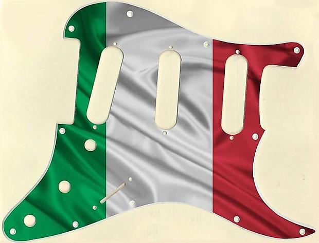 Graphical pickguard Fender Stratcaster Strat SSS 11 Hole