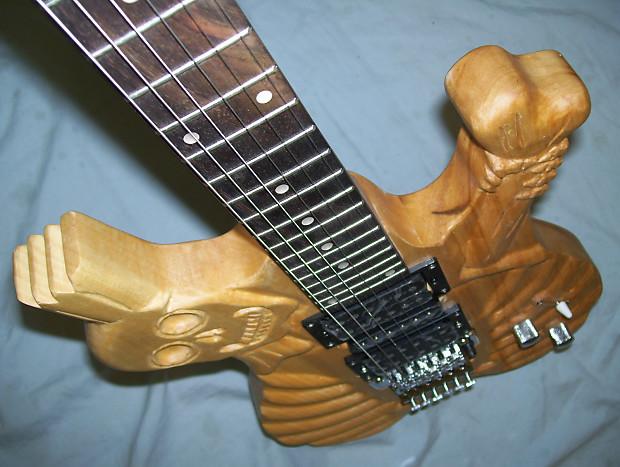 Guitar custom hand carved reverb