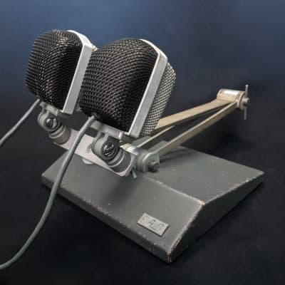 1970s Matched Pair of EAG MD-16N: Dynamic Cardioid Vintage Microphones /w Stand | Hungarian AKG D12