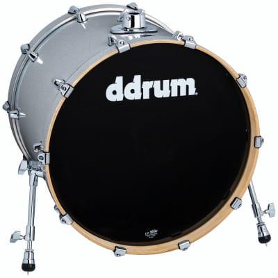 ddrum Dominion Series Bass Drum 18x22 Silver Sparkle
