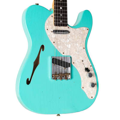 FENDER CUSTOM SHOP LIMITED EDITION '60S TELECASTER THINLINE - JOURNEYMAN RELIC FADED AGED SEAFOAM GR for sale