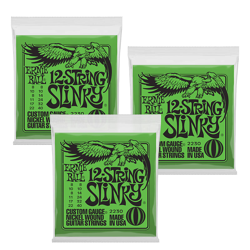 Ernie Ball 2230 12-String Slinky Electric Guitar Strings 8-40