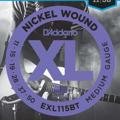 D'Addario EXL115BT Balanced Tension Medium Nickel Wound Electric Guitar Strings - 11-50 Gauge