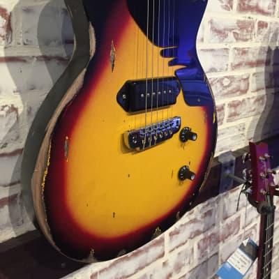 Margasa USA Custom Joker Guitar Vintage Style Heavy Relic Sunburst P90 for sale