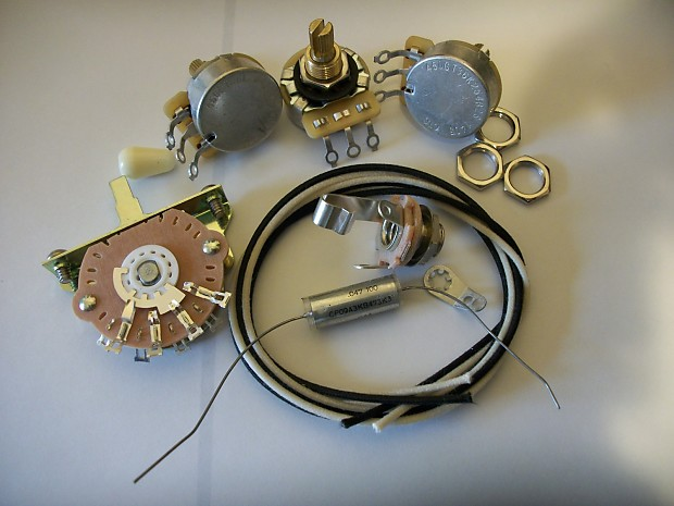 custom spec wiring harness upgrade kit for stratocaster new reverb. Black Bedroom Furniture Sets. Home Design Ideas