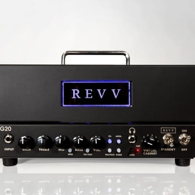 REVV G20 2-Channel 20-Watt Guitar Amp Head with Reactive Load and Virtual Cabinets