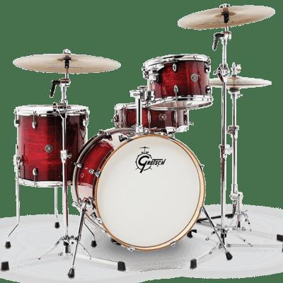 """Gretsch Catalina Club  Gloss Crimson Burst 3-Piece Shell Pack - 20"""" Kick"""