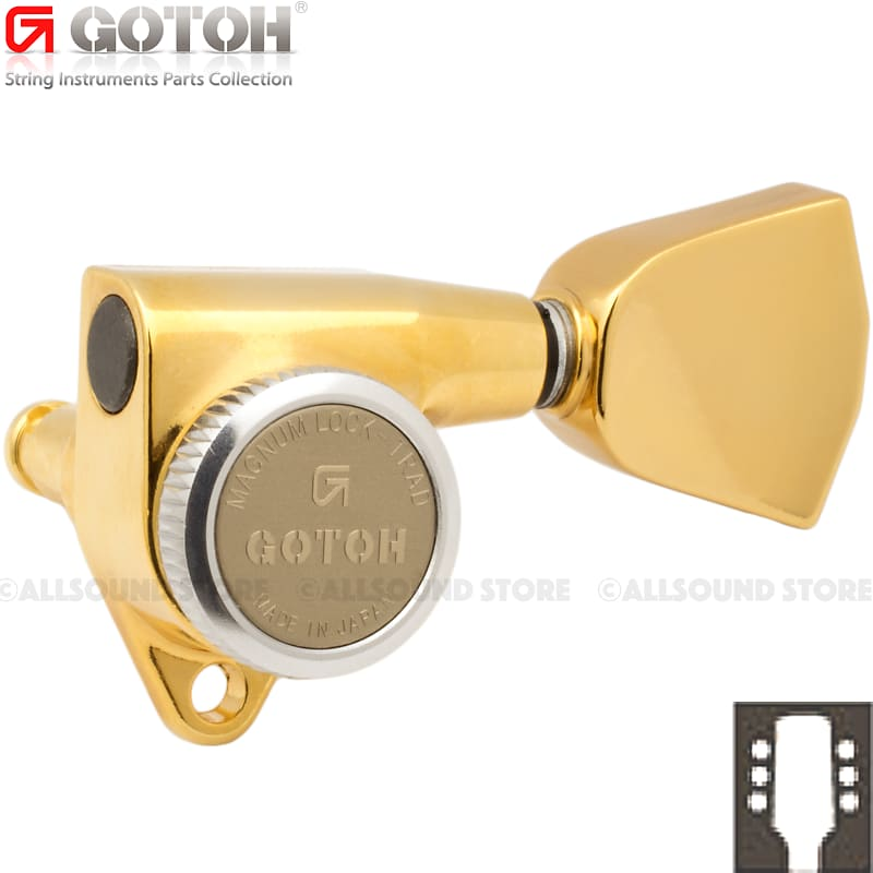 Gold, 04 Gotoh SG301 Tuners 3 x 3