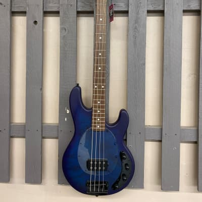 Sterling STINGRAY RAY34PB Bass Neptune Blue Satin for sale