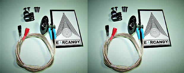 EarCandy MIL SPEC 1x12 1x10 1x15 guitar amp speaker cab cabinet wiring  harness 1/4 pair no soldering
