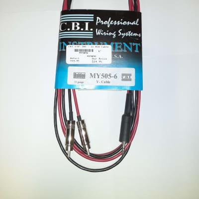 """CBI Cables 1/8"""" TRS - 2x RCA Cable 6'"""