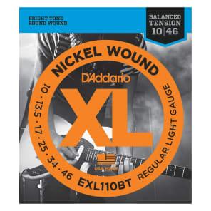 D'Addario EXL110BT Nickel Wound Electric Guitar Strings, Balanced Tension Regular Light Gauge