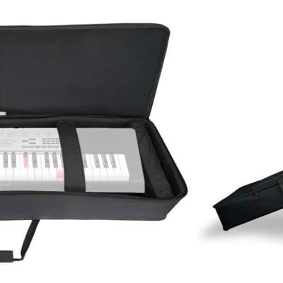 Rockville 61 Key Keyboard Case w/ Wheels+Trolley Handle For Casio LK-165