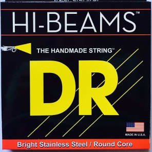DR NWB6-30 6 string Hi-Def Neon White Coated Bass Guitar Strings 30-125 MED