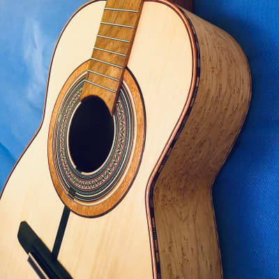 John Hart Model 10 Alaskan Cedar - Birds Eye Maple Classical Guitar with deluxe hardshell case for sale