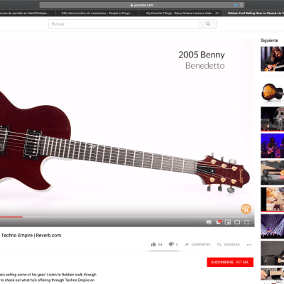 Benedetto Benny owned by Robben Ford (2005) for sale