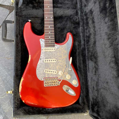 Nick Page Guitars Brazilian Rosewood SoCal  Candy Apple Red over Gold for sale