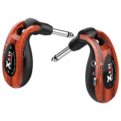 XVIVE U2 Rechargeable Digital 2.4ghz Wireless Transmitter Guitar System Wood Finish