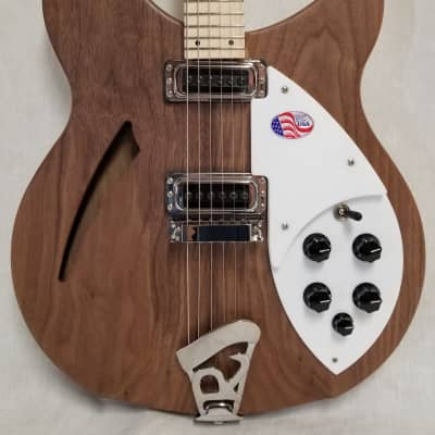 Rickenbacker 330 Electric Guitar, Thin-Line Semi-Acoustic, Walnut, 24 fret, 2 Pickups, Dot inlay, W/Case for sale