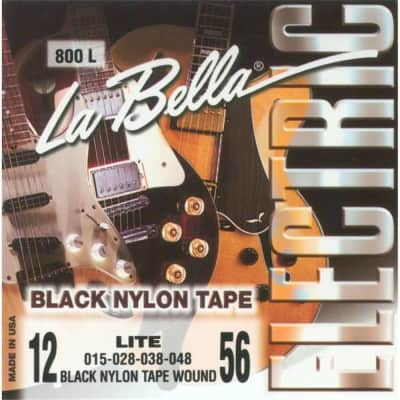 LaBella 800L Jazz Tapes – Black Nylon Light 12-56