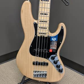 Fender American Elite Jazz Bass V 2017 Natural for sale
