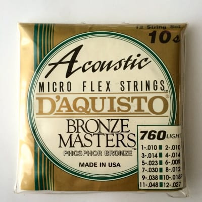 D'Aquisto Set Bronze Master 760L microflex strings for sale