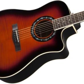 Fender T-Bucket 300CE Flamed Maple/Mahogany Cutaway Dreadnought w/ Electronics Sunburst