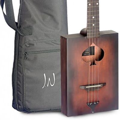 James Neligan CASK-FIRKIN-1 Cask Series Spruce Top Mahogany Neck Acoustic Cigar Box Guitar w/Gig Bag for sale