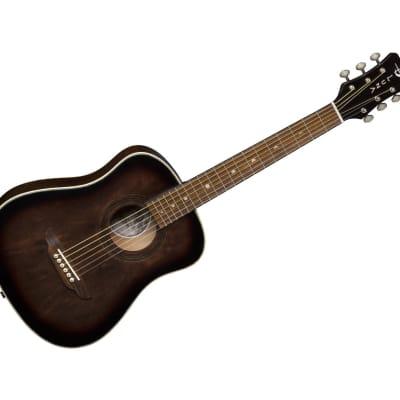 Luna Safari Art Vintage Travel Guitar w/Bag SAFARTVINTAGE for sale