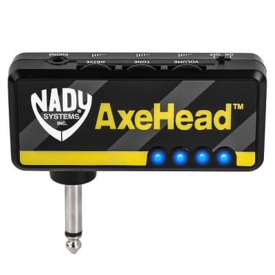 NADY AXEHEAD MINI GUITAR HEADPHONE AMP W/RECHARGEABLE BATTERY for sale