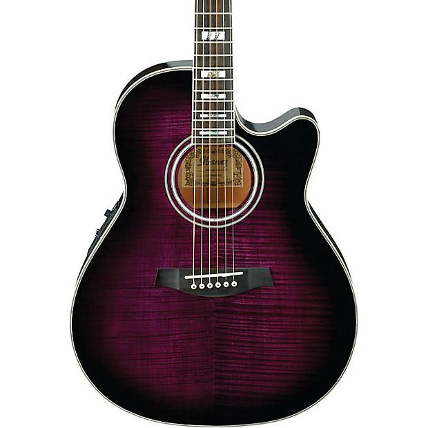 ibanez aef30e tvs acoustic electric guitar purple trans reverb. Black Bedroom Furniture Sets. Home Design Ideas