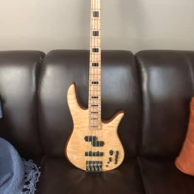 Fodera Monarch Deluxe 4 2009 Curley maple with matching headstock for sale