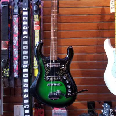 Sekova Bighorn Emerald Green 1960's MIJ Vintage Electric Guitar for sale