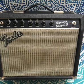 """Fender Harvard Reverb II 20-Watt 1x10"""" Rivera Era  1980s Blackface Solid State"""
