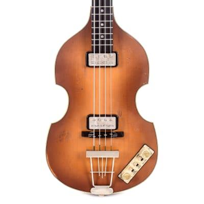 Hofner 1963 Reissue Violin Bass Vintage Aged Sunburst (Serial #V0318H013)