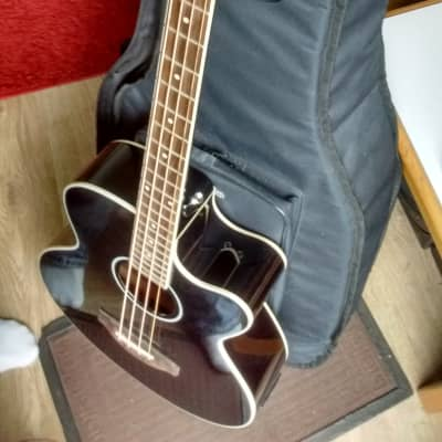 Harley Benton  B-30BK Acoustic Bass Series Black for sale