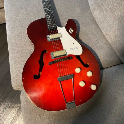 Holiday Rocket 1960's Red Smoke owned by LA session guitarist Tim Pierce for sale