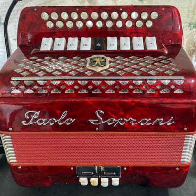 Paolo Soprani  2 Row  1970's  Red C/Csharp