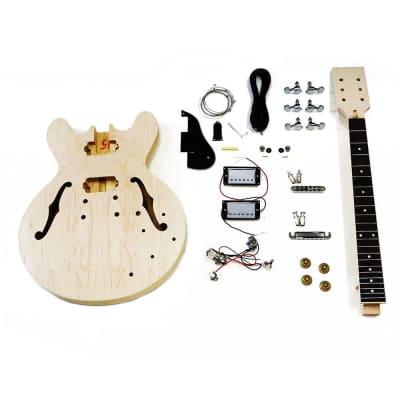 HOSCO Semi-Acoustic 335 Style Guitar Kit, Maple Neck & Body, Rosewood Fingerboard ER-KIT-ES for sale