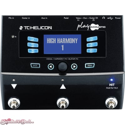 TC Helicon Play Acoustic - Vocal and Acoustic Guitar Effect Processor Pedal