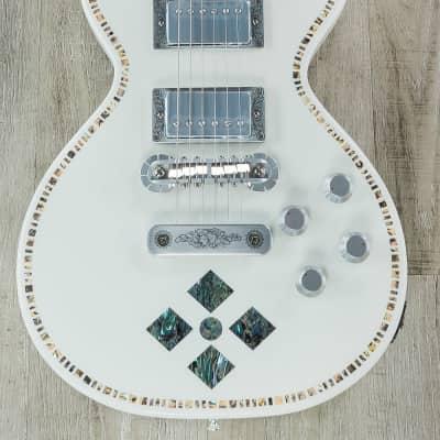 Zemaitis Guitars A24SU Superior Antanus Guitar, White Pearl Diamond, Abalone Top Inlays