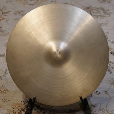 """Vintage A. Zildjian  20"""" 1960's Ride Cymbal - 2646g"""
