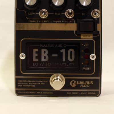 Walrus Audio EB-10 Preamp/EQ/Boost 2020 Matte Black