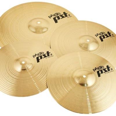 "Paiste PST 3 Cymbal Set 14"" Hi-Hat, 10"" Splash, 16"" Crash, 18"" Crash/Ride, 20"" Ride"
