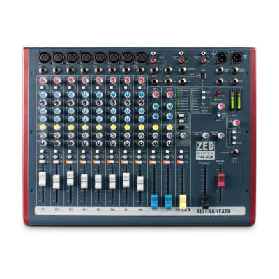 Allen & Heath ZED-60-14FX 14-Channel Mixer w/ 60mm Faders, Effects